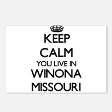 Keep calm you live in Win Postcards (Package of 8)