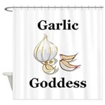Garlic Goddess Shower Curtain
