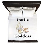 Garlic Goddess King Duvet