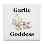 Garlic Goddess Tile Coaster