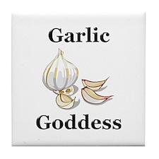 Garlic Goddess Tile Coaster