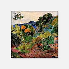 """Martinique Landscape Square Sticker 3"""" x 3"""""""