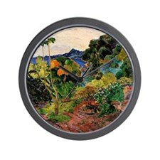 Martinique Landscape Wall Clock