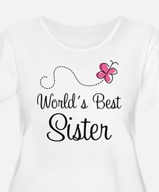 World's Best Sister Plus Size T-Shirt