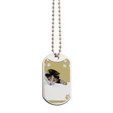 calico cat Dog Tags