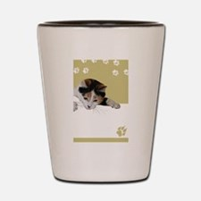 calico cat Shot Glass
