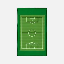 Soccer field Area Rug