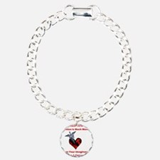 Invisible Chronic Pain Red Heart.png Bracelet