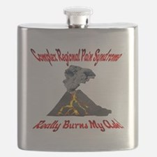 CRPS Really Burns My Ash Volcano Red Flask