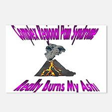 CRPS Really Burns My Ash Volcano - Violet Postcard