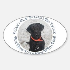 Black Labrador Retriever Big Truck Decal