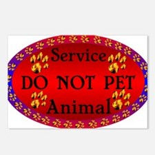 Service Animal DO NOT PET Paw Prints.png Postcards