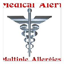 Multipe Allergies Medical Alert.png Square Car Mag