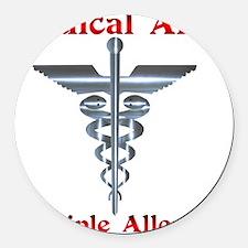 Multipe Allergies Medical Alert.png Round Car Magn