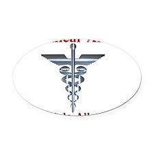 Multipe Allergies Medical Alert.png Oval Car Magne