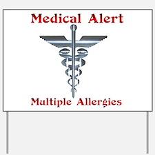 Multipe Allergies Medical Alert.png Yard Sign