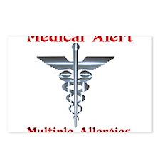 Multipe Allergies Medical Alert.png Postcards (Pac