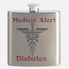 Medical Symbol Diabetes Medical Alert Flask