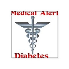 Medical Symbol Diabetes Medical Alert Square Stick
