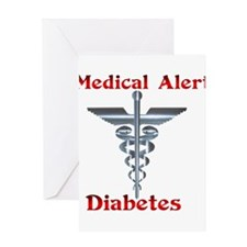 Medical Symbol Diabetes Medical Alert Greeting Car