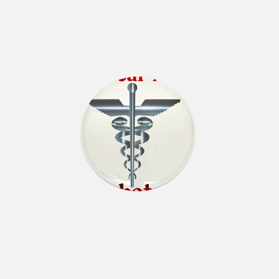 Medical Symbol Diabetes Medical Alert Mini Button