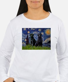 Starry Night & Black Labrado T-Shirt