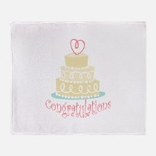 Congratulations Cake Throw Blanket