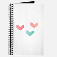 Multicolored Hearts Journal