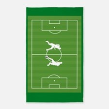 Soccer players on field Area Rug