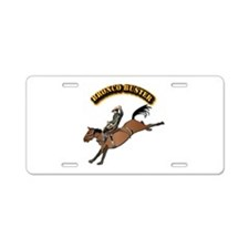 Bronco Buster with Text Aluminum License Plate