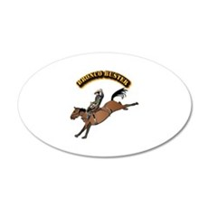 Bronco Buster with Text Wall Decal