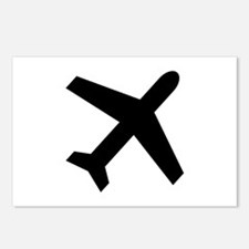 Airplane icon Postcards (Package of 8)