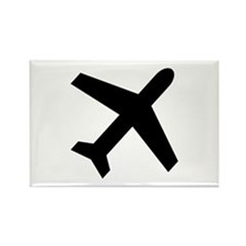 Airplane icon Rectangle Magnet