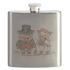 Wedding Pigs Flask