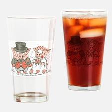 Wedding Pigs Drinking Glass