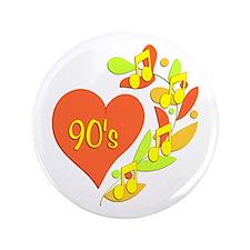 "90s Music Heart 3.5"" Button (100 pack)"