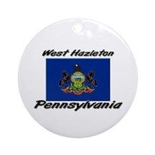 West Hazleton Pennsylvania Ornament (Round)