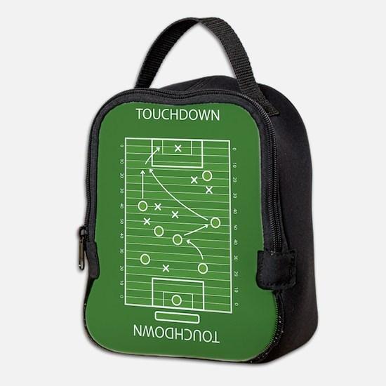 Football field Neoprene Lunch Bag