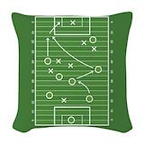 Football field Woven Pillows