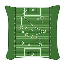 Football field Woven Throw Pillow