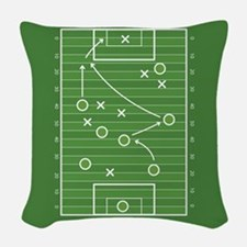 Football field Woven Throw Pillow