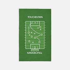 Football field Area Rug