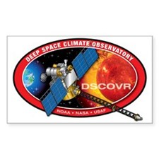Deep Space Climate Obs. Sticker (rectangle 10 Pk)