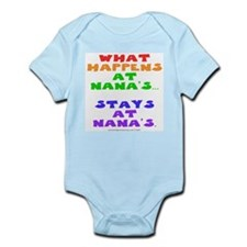 Cute What happens at gramma's stays at gramma's Infant Bodysuit