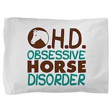 Funny Horseback riding Pillow Sham