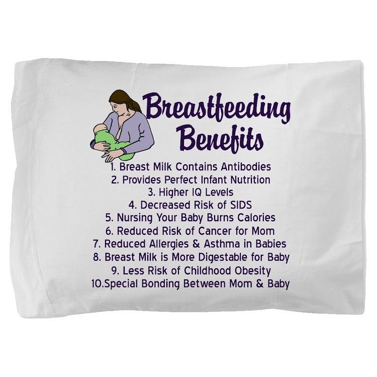 Breastfeeding Benefits Pillow Sham