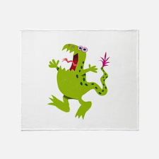 screaming Dino Throw Blanket