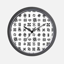 West Africa Adinkra Symbols Wall Clock