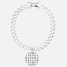 West Africa Adinkra Symb Charm Bracelet, One Charm