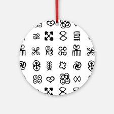West Africa Adinkra Symbols Round Ornament